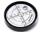 Ubei Inclinómetros de nivel de burbuja de burbuja de aluminio para instrumentos de supervivencia y tribraces, Ø60 mm, precisión 15 '/2