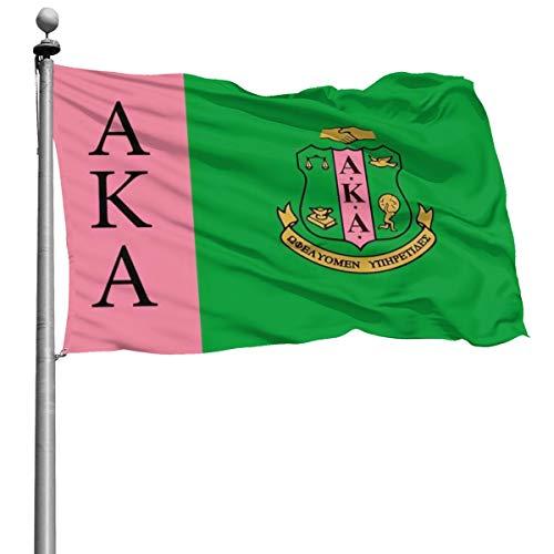 Alpha Kappa Alpha-Flagge für Zuhause, Garten, Terrasse, Rasen, Dekoration für Außenbereich, Banner, Fahne mit Ösen, 10,2 x 1,8 m, MAGA 4x6 FT 1