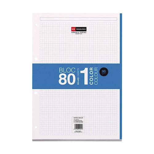 Miquel Rius 422049 - blocchetto per appunti ricambio 100 fogli quadrettato 5x5 blu