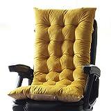WigWu Cojín para tumbona de terciopelo con parte inferior antideslizante, relleno de algodón perlado, relleno de repuesto para silla de oficina, asiento de coche, muebles (amarillo, 53 x 110 cm)