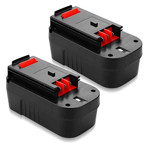 2Packs 3600mAh HPB18 Replacement Battery Compatible with Black and Decker 18V Battery HPB18 Firestorm HPB18-OPE HPB18-OPE2 FSB18 FS18FL FS180BX A1718 244760-00 FS18BX FS18FL Cordless Power Tools
