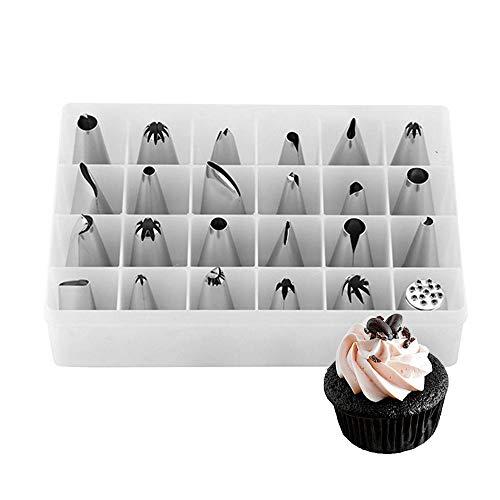 Boca decorativa rusa Boquillas para manga pastelera profesional Kit de suministros para...