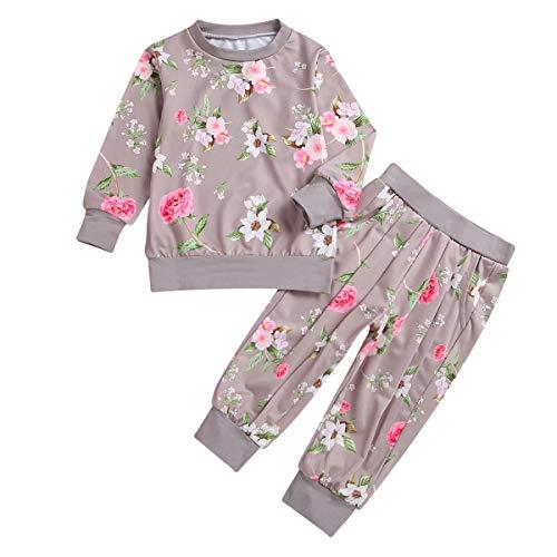 Puseky - Conjunto de sudadera de manga larga y pantalones de chándal para niñas