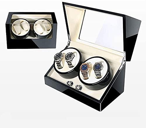 Caja de reloj agitador mecánico reloj giratorio caja de reloj Winder Shake mesa caja de almacenamiento para padre cumpleaños San Valentín regalo