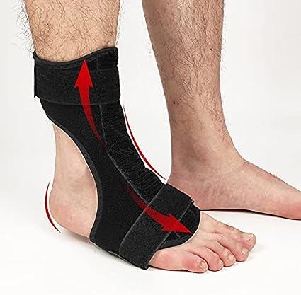 LIZHE Night Foot Drop Ortesis Strace Aluminio Tobillo Plantar Fasciitis Férula Soporte ORTHOSIS DE PIE con Soportes Socios Universal (Color : Black, Size : Small)