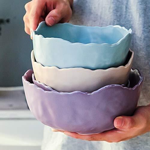 Tazón de cultura folclórica italiana para sopa, vajilla occidental North Ou Mo Randy Ensaladera creativa de cerámica de color irregular, plato de fruta folclórica (color verde manzana, tamaño: grande)