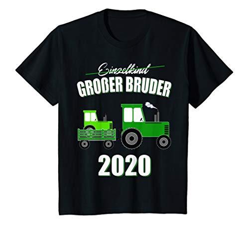 Kinder Großer Bruder 2020 Jungen Traktor Geschwister Sohn Geschenk T-Shirt