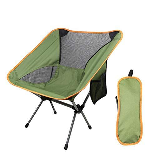 ZXCY Chaise Pliante Camping Portable pour La Randonnée Jardin Et Barbecue Ultraléger Siège Pliant Pliable Chaise avec Sac De Rangement Léger Et Pratique,Vert