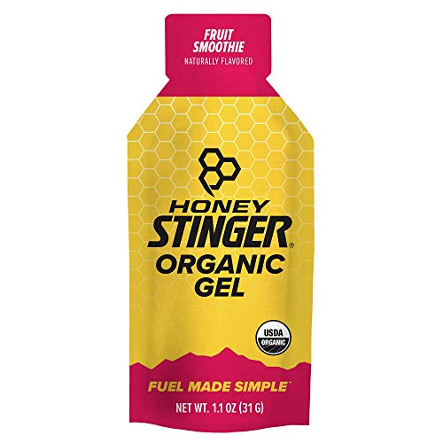 Honey Stinger Organic Energy Gel, Fruit Smoothie, Sports Nutrition, 1.1 Ounce (Pack of 24)