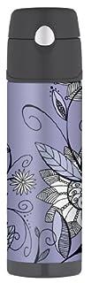 Thermos Raya 18-Ounce Hydration Bottle, Purple Flower (B001EGO69A) | Amazon price tracker / tracking, Amazon price history charts, Amazon price watches, Amazon price drop alerts