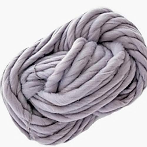 3world 超 極太 毛糸 250g チャンキーニット 北欧風 ヤーン ざっくり うで編み 指編み SW1277 グレー
