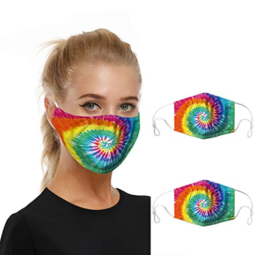 2pc Mouth Masks for Dust Protection Anti Face Mask Washable Adjustable Earloop Mask Aadiju