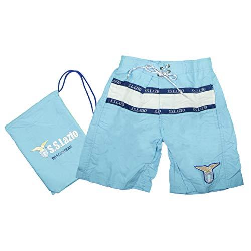 SSLAZIO Costume Shorts Bambino L2050 (5-6 Anni, Celeste)