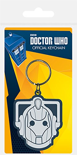 Pyramid International Doctor Who Cyberman Schlüsselanhänger aus Gummi, Mehrfarbig, 4,5 x 6 cm