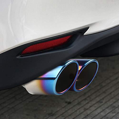 Tubo de escape universal con doble apertura de acero inoxidable cromado