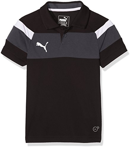 PUMA Kinder Polo Spirit II, black-White, 164