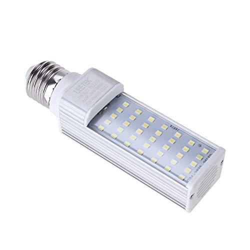 UEETEK 7W E27 lámpara de ahorro de energía de LED para caber todos los pescados de la vaina y los acuarios de la caja de pescados (blanco)