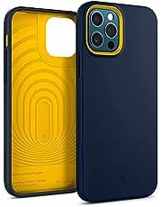 Caseology Nano Pop Compatibel met iPhone 12 en iPhone 12 Pro Case - Blueberry Navy