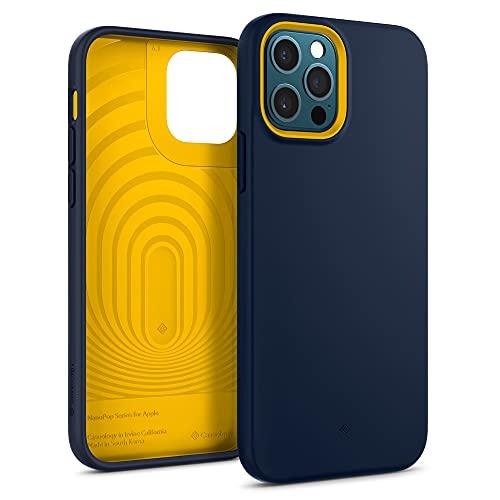 Hülleology Nano Pop Hülle Kompatibel mit iPhone 12 Kompatibel mit iPhone 12 Pro - Navy