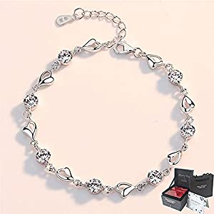 Private Twinkle 925 Sterling Silver Bracelet Made with Shiny Zirconia for Women Girls-fashion sense
