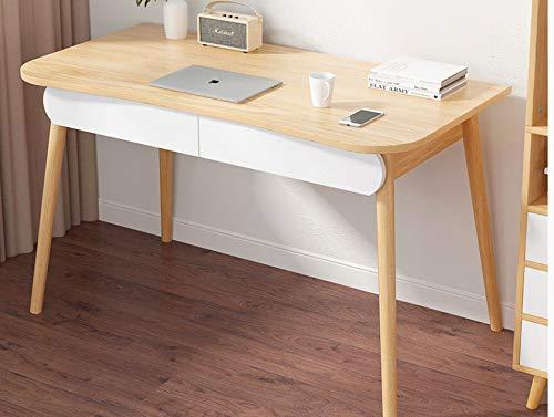Escritorio De Computadora Escritorio Moderno Escritorio De Estudio Simple Escritorio 120 * 60 * 72cm Color Roble Pastoral + Blanco cálido