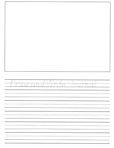 Draw and Write Journal: A book of writing and drawing paper for elementary-aged children