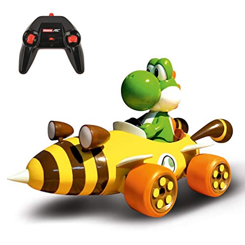 Carrera 181065 RC Official Licensed Mario Kart Bumble V Yoshi 1:18 Scale 2.4 GHz Remote Radio Control Car with Rechargeable LiFePO4 Battery - Kids Toys Boys/Girls