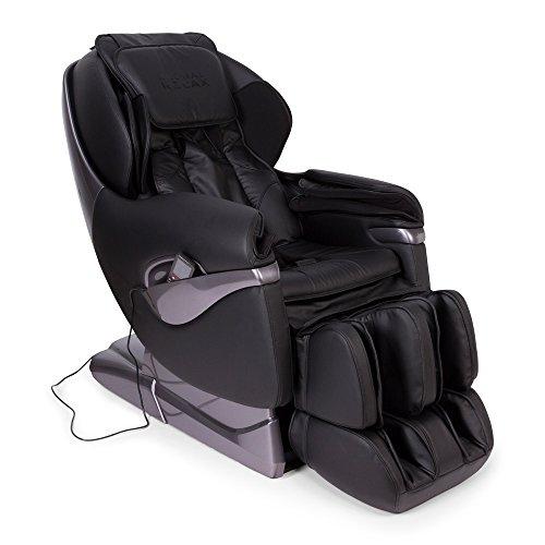 SAMSARA® Sillon de masaje 2D - Negro (modelo 2019) - Sofa masajeador electrico de relax con shiatsu - Silla butaca con presoterapia, gravedad cero, calor y USB - Garantía 5 Años