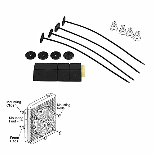 Kit de montaje universal y soporte para un ventilador eléctrico en el...