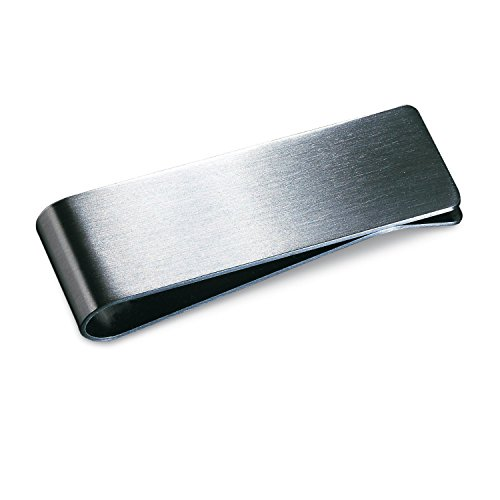 TOOGOO(R) Fermasoldi in acciaio inox opaco-argento Finitura in confezione regalo