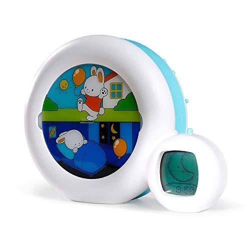 Pabobo Kid Sleep - Mond 3 in 1 (Nachtlicht, Anzeige & Wecker) - Kinder pädagogische musikalische Wecker - Tag / Nachtlicht - weiß