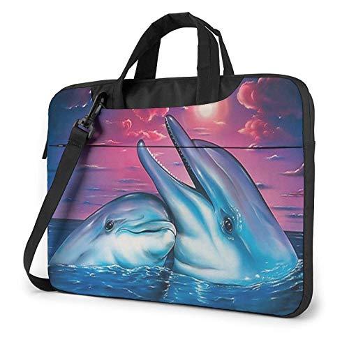 Dolphin Bolsa para computadora portátil Bolsa de Mensajero Maletín Cartera Hombro Crossbody Sling Bolsa de Trabajo