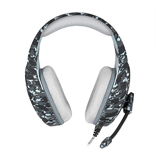 Lpinvin Gaming-Headset 3,5 mm Camouflage-Spiel Helm mit Stereo-Micro/Rausch-Stornierung/atmungsaktive geflochtene Linie/atmungsaktive Memory-Foam Kopfhörer mit Geräuschunterdrückung