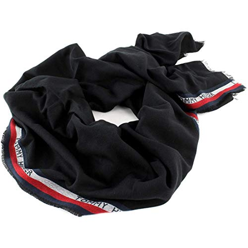Tommy Hilfiger Corporate Selvedge Scarf Black