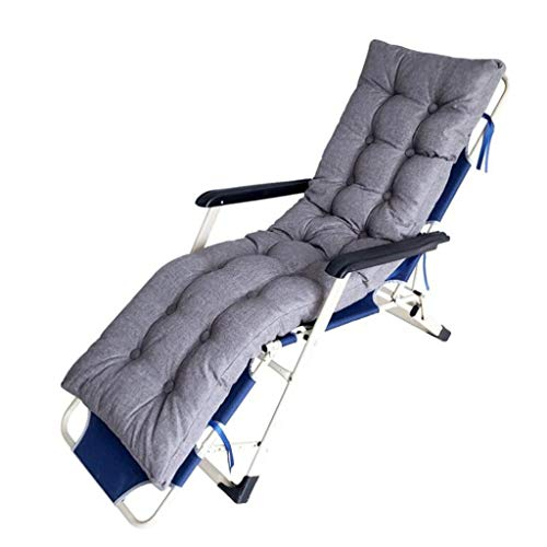 HGDD Cushion covers Portable Patio Thick Padded Bed Recliner Relaxer Chair Seat Cover Garden Sun Lounger Cushions, For Travel/Holiday/Indoor/Outdoor (Color : Gray)