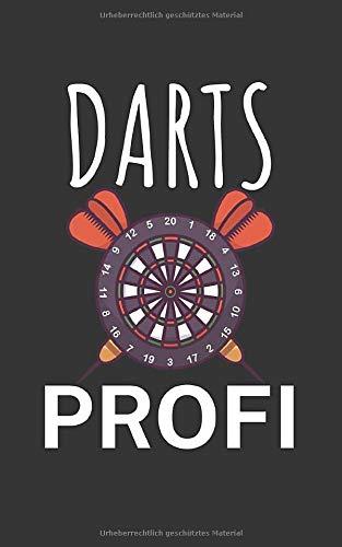Darts profi: Notizbuch mit Dart Design und Spruch. 120 Seiten Kariert. Für Notizen, Skizzen, Zeichnungen, als Kalender, Tagebuch oder als Geschenk.