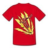 DC Comics Ligue De Justice D'Amérique Flash T-Shirt Enfant, 110/116 (5-6 Ans), Rouge