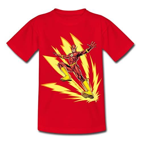DC Comics Justice League Flash Blitze Kinder T-Shirt, 110-116, Rot