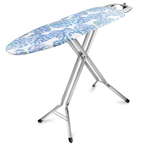 Bartnelli Rorets Ironing Board | Made in Europe | Height Adjustable Iron Board, with 4 Layer Cover Pad, Safety Iron Rest, Safety Storage Lock, For Home Laundry Room or Dorm Use | with Iron Cord Holder
