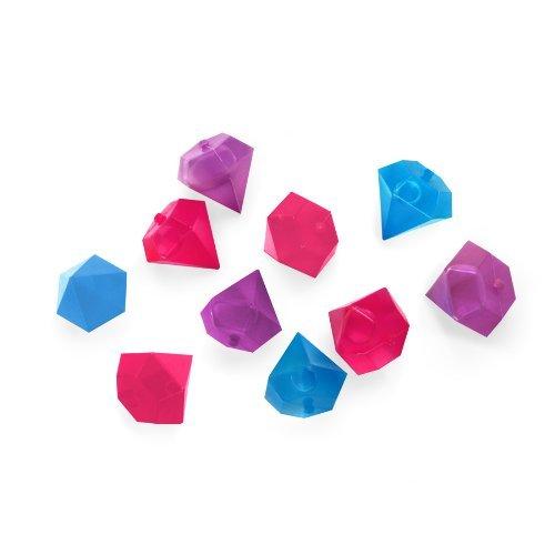 Kikkerland Diamonds-Set da 10 Cubetti di Ghiaccio Riutilizzabili, Multicolore, 8x16x2 cm