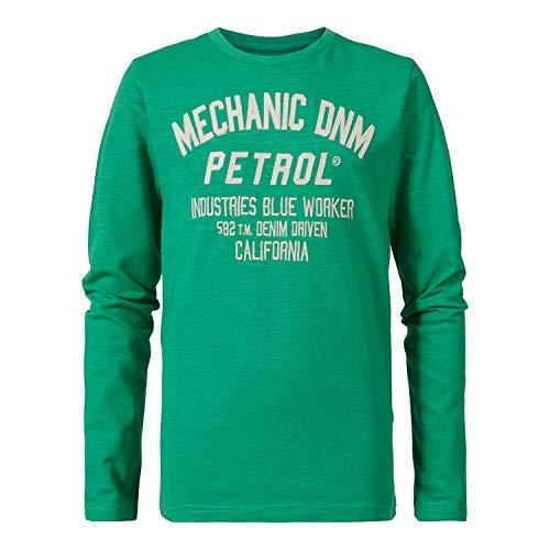 Petrol Industries - Jongens Pullover Jersey Sweatshirt lange mouwen met opdruk, groen - B-SS19-TLR684