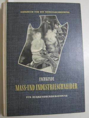 Fachkunde Mass- und Industrieschneider für Herrenoberbekleidung