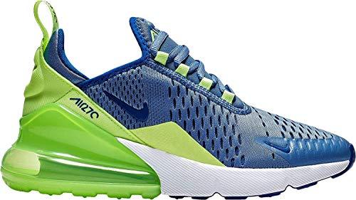 Nike Air Max 270 (GS), Scarpe da Atletica Leggera Uomo, Multicolore (Indigo Storm/Indigo Force/Lime Blast 406), 40 EU