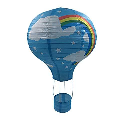 Depory Rainbow Globo de Aire Caliente, lámpara de Papel para decoración de Techo Jardín de Infantes Fiesta Decoración del hogar (8)