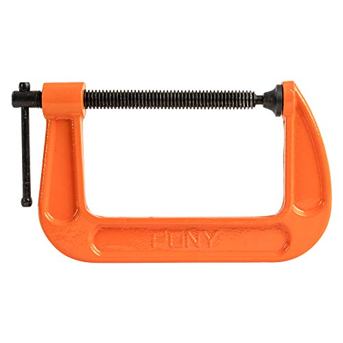 Pony Jorgensen 2650 5-Inch C-Clamp, Orange