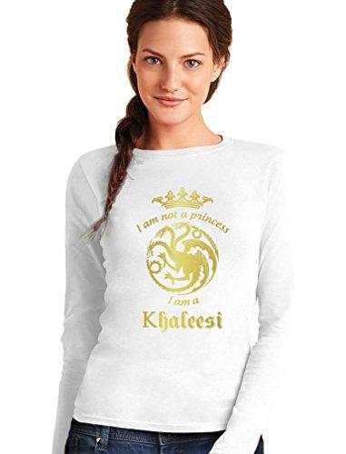 Camiseta de Manga Larga para Mujer - -I'm Not A Princess I'm A Khaleesi- Regalo Original para Mujeres