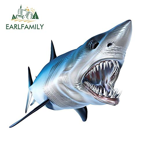 FAFPAY Car sticker 13cm x 11.4cm shark decal 3d car styling vinyl stickers graphic window decoration for cars diy car body decalsStyle A