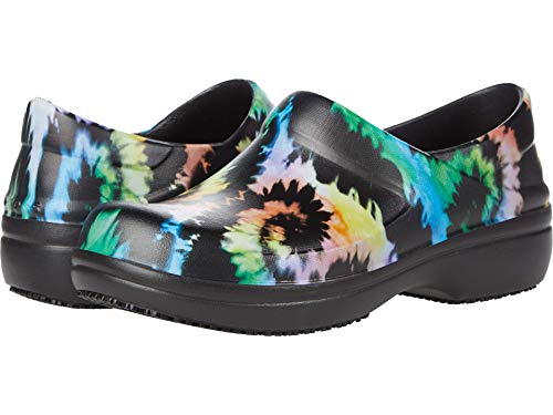Crocs Women's Neria Pro II Clog | Slip Resistant Work Shoes, Tie Dye, 8
