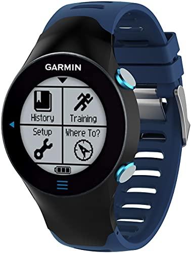 Chainfo Correa de Reloj Compatible con Garmin Forerunner 610, Blando Silicona Narrow Delgada Deporte Reemplazo Pulsera (Pattern 2)