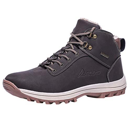 Rawdah Botas Hombre Nieve Botas Hombre Invierno Senderismo Impermeables Ofertas Deportivo Trekking Zapatos Invierno Cálido con Cordones para Hombre, Botas de Montaña Cálidas